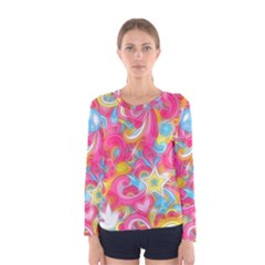 Hippy Peace Swirls Women s Long Sleeve T-shirt