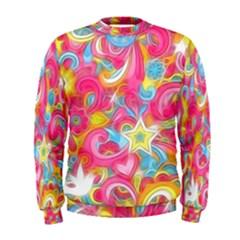 Hippy Peace Swirls Men s Sweatshirt