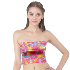 Hippy Peace Swirls Women s Tube Tops
