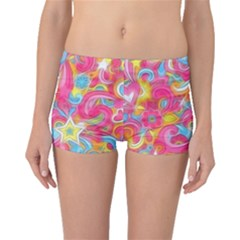 Hippy Peace Swirls Boyleg Bikini Bottoms