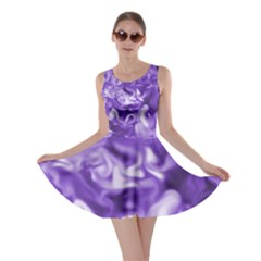 Lavender Smoke Swirls Skater Dress