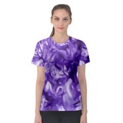 Lavender Smoke Swirls Women s Sport Mesh Tee