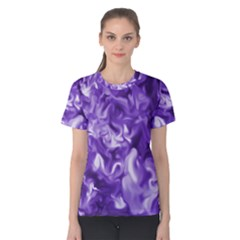 Lavender Smoke Swirls Women s Cotton Tee