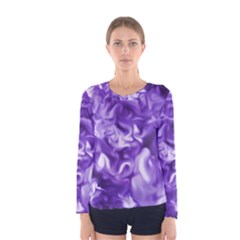 Lavender Smoke Swirls Women s Long Sleeve T-shirt