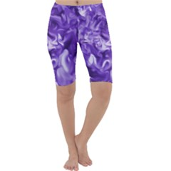 Lavender Smoke Swirls Cropped Leggings