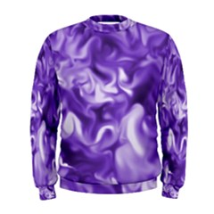 Lavender Smoke Swirls Men s Sweatshirt