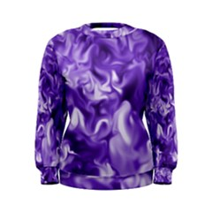 Lavender Smoke Swirls Women s Sweatshirt