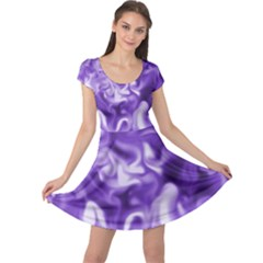 Lavender Smoke Swirls Cap Sleeve Dress
