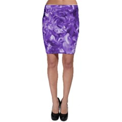 Lavender Smoke Swirls Bodycon Skirt
