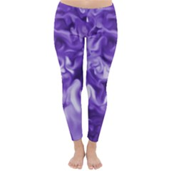 Lavender Smoke Swirls Winter Leggings