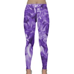 Lavender Smoke Swirls Yoga Leggings