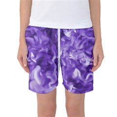 Lavender Smoke Swirls Women s Basketball Shorts