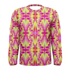 Pink and Yellow Rave Pattern Men s Long Sleeve T-shirt