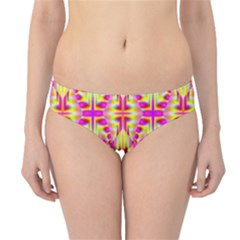 Pink And Yellow Rave Pattern Hipster Bikini Bottoms
