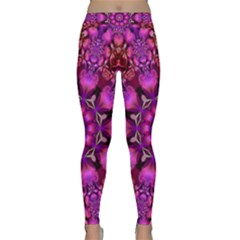 Pink Fractal Kaleidoscope  Yoga Leggings