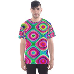 Psychedelic Checker Board Men s Sport Mesh Tee