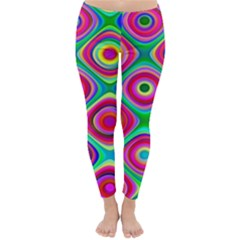 Psychedelic Checker Board Winter Leggings