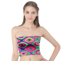 Psychedelic Checker Board Women s Tube Tops