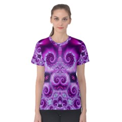 Purple Ecstasy Fractal Women s Cotton Tee
