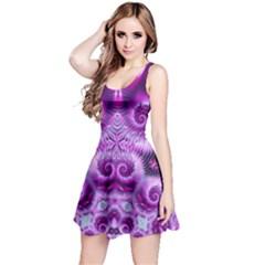 Purple Ecstasy Fractal Reversible Sleeveless Dress