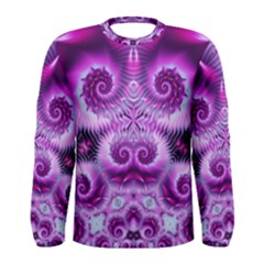 Purple Ecstasy Fractal Men s Long Sleeve T Shirt