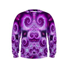Purple Ecstasy Fractal Kid s Sweatshirt
