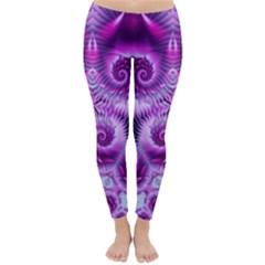 Purple Ecstasy Fractal artwork Winter Leggings