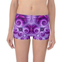 Purple Ecstasy Fractal Artwork Boyleg Bikini Bottoms