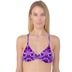 Purple Ecstasy Fractal artwork Reversible Tri Bikini Tops