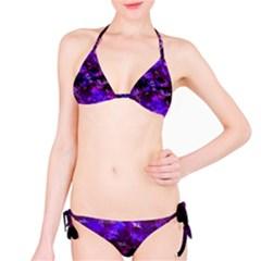 Purple Skulls Goth Storm Bikini