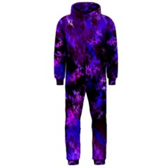 Purple Skulls Goth Storm Hooded Jumpsuit (Men)