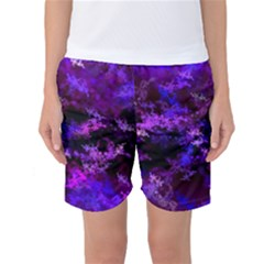 Purple Skulls Goth Storm Women s Basketball Shorts