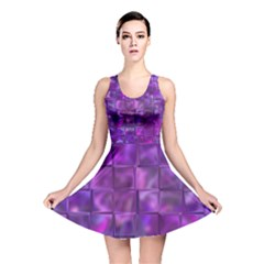 Purple Squares Reversible Skater Dress