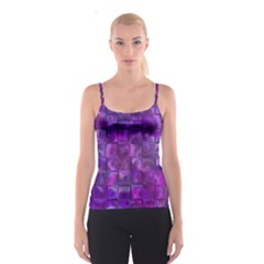 Purple Squares Spaghetti Strap Top