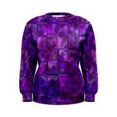 Purple Squares Women s Sweatshirt