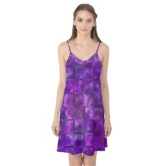 Purple Squares Camis Nightgown