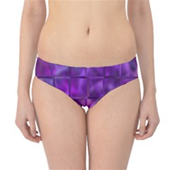Purple Square Tiles Design Hipster Bikini Bottoms
