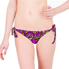 Purple Tribal Abstract Fish Bikini Bottom