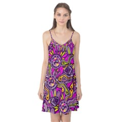 Purple Tribal Abstract Fish Camis Nightgown