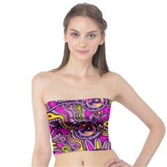 Purple Tribal Abstract Fish Women s Tube Tops