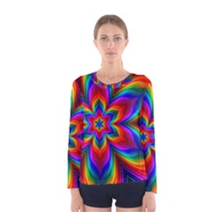 Rainbow Flower Women s Long Sleeve T Shirt