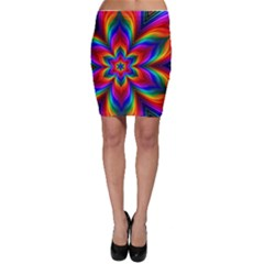 Rainbow Flower Bodycon Skirts
