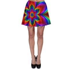 Rainbow Flower Skater Skirts