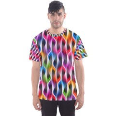 Rainbow Psychedelic Waves Men s Sport Mesh Tee