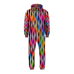 Rainbow Psychedelic Waves Hooded Jumpsuit (Kids)