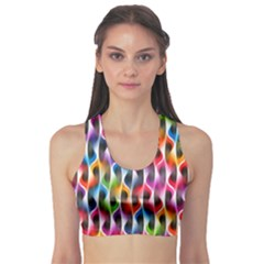 Rainbow Psychedelic Waves  Sports Bra