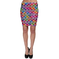 Rainbow Psychedelic Waves  Bodycon Skirts
