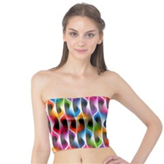 Rainbow Psychedelic Waves  Women s Tube Tops