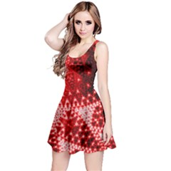 Red Fractal Lace Reversible Sleeveless Dress