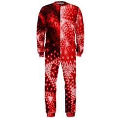Red Fractal Lace Onepiece Jumpsuit (men)
